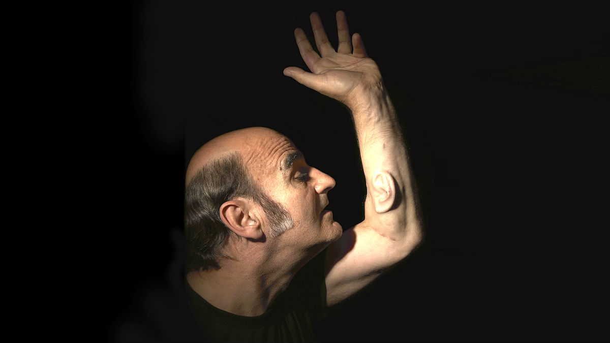 Performance artist Stelarc human enhancement